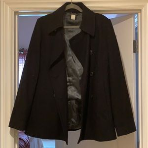 J Crew Black Peacoat Jacket!